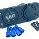 Face Plate With Volt Meter & Twin Amp USB Socket 12v Flush Mount HS Auto Parts
